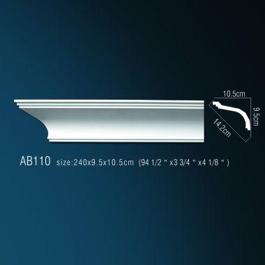 Декоративный потолочный плинтус АВ110