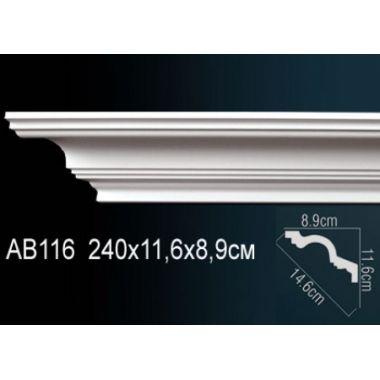 Декоративный потолочный плинтус АВ116