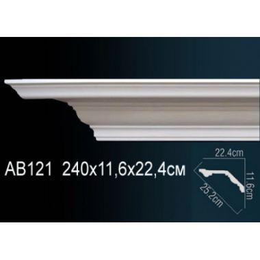 Декоративный потолочный плинтус АВ121