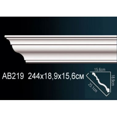 Декор. профиль АВ219 244*18,9*15,6см
