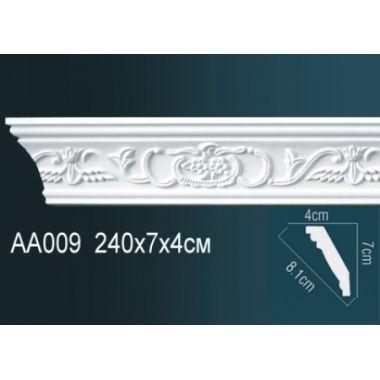 Плинтус потолочный с рисунком АА009 240х7х4см