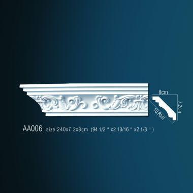 Плинтус потолочный с рисунком АА006 240х7,2х7,2 см