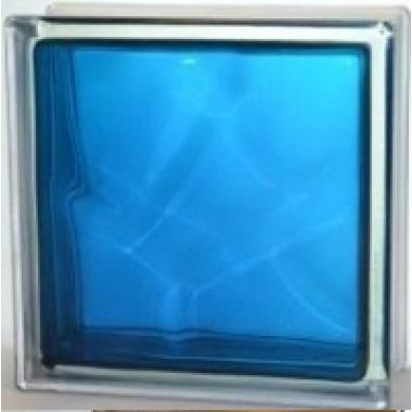Стеклоблок прозрачный синий JH060