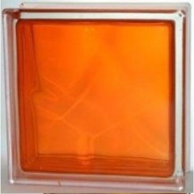 Стеклоблок прозрачный оранжевый JH063