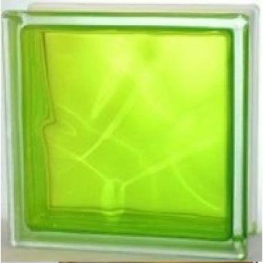 Стеклоблок прозрачный лимонный JH064