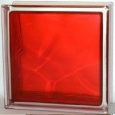 Стекло-блок темно-красный JH058