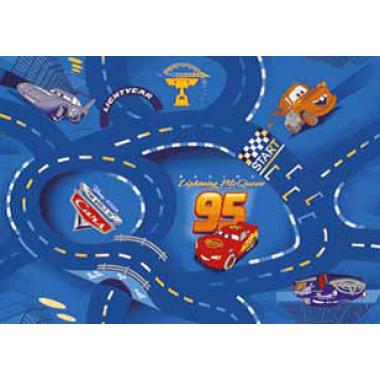 Ковролан  World of cars, синий, 4м