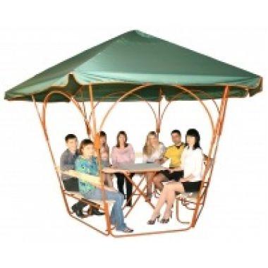 Дачная беседка Семейная7 (со столом) 2500*1100*1800мм