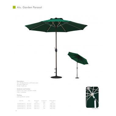 Садовый зонт угловой АР-8,5-38-24