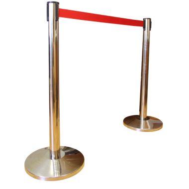 Оградительный столб h-91см,d-63мм, с вытяж. лентой 3м, золото, 1