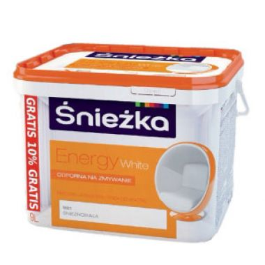 Водоэмульсия Sniezka ENERGY White  9 л