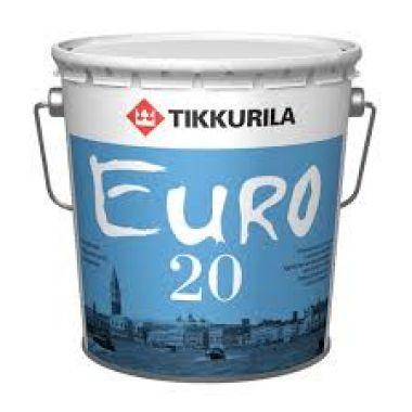 Латексно-акриловая Водоэмульсия для прихожей и кухонь Тиккурила Euro 20 0,9 л