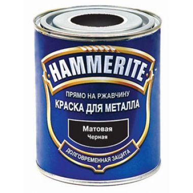 Хамертон - молотковая эмаль по оцинковке  черная  4,50л