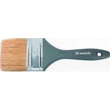 Кисть плоская Евро 2,5, натуральная щетина,деревянная ручка