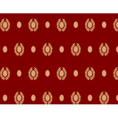 Ковролан  Туран  Красный с медальонами 4 м