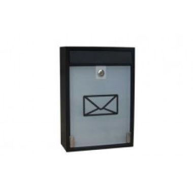 Почтовый ящик MILAN металлический черный  BG.410.02