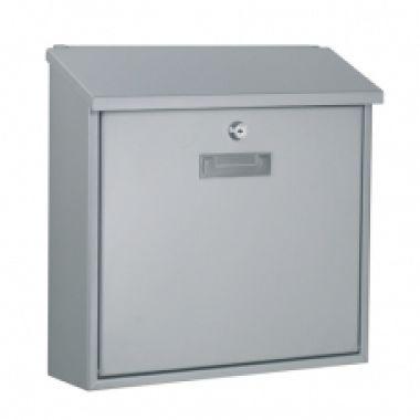 Почтовый ящик MONACO металлический  серебристый