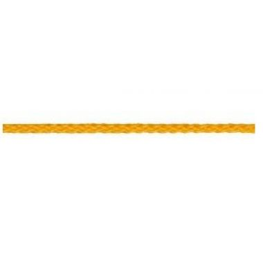 Верёвка 3 мм полипропилен, жёлтая,плетёная