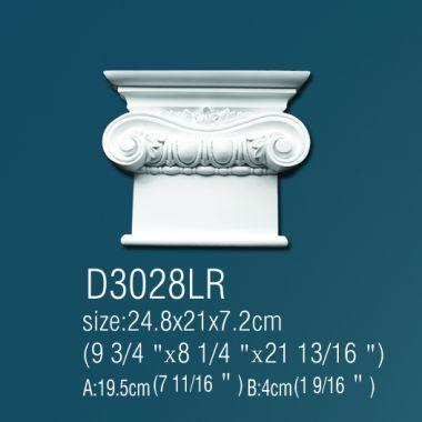 Капитель D3028 П,Л 24*24,8*7,2см
