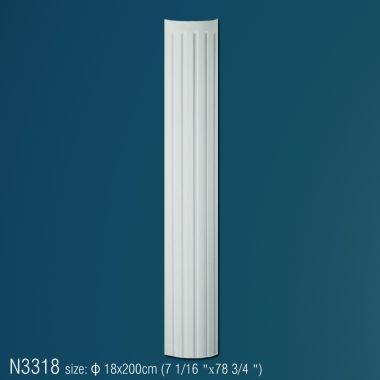 Колонна из полиуретана рифленая N3318 ( d 18 x 270 см)