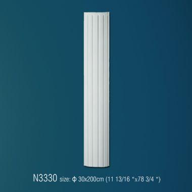 Колонна из полиуретана рифленная N3330 (d 30 x 200см)