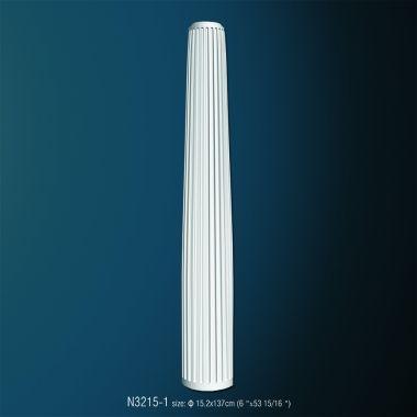Декоративная полуколонна рифленная N3215-1 (d 15.2 x 137см)