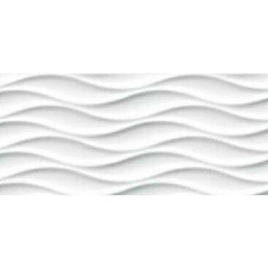 Облицовочная плитка (WAG051) : Wave 20x44 Сорт1,белая(8,5мм=71,4