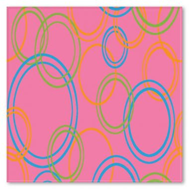 Ковролан Aquarelle   Kids 3660 8  44955   4м розовый+ круги