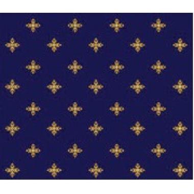 Ковролан Aquarelle 2702 8 41011,  4 м  т.синий  с крестами