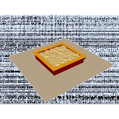 Песочница для детей 109.01.02 (1,55м*1,55 м)