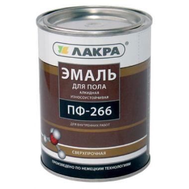 Эмаль ПФ- 266 ЛакраСинтез желто-коричневая  1 кг  Л-С