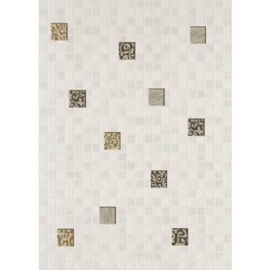 Декор Квадро Мозаика Белый 25х35 См