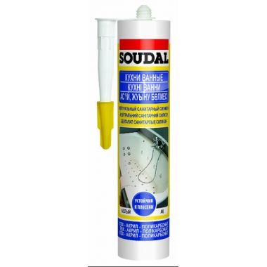 Соудал силикон нейтральный санитарный бесцветный 300мл