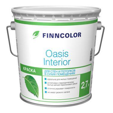 Водоэмульсия OASIS INTERIOR A краска для стен и потолков 2,7 л