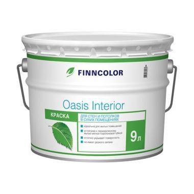 Водоэмульсия OASIS INTERIOR A краска для стен и потолков 9 л