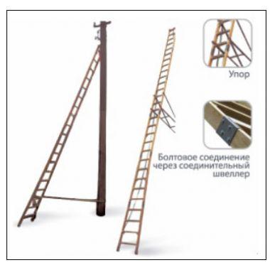 Лестница диэлектрическая для опор ЛЭП Ф73П