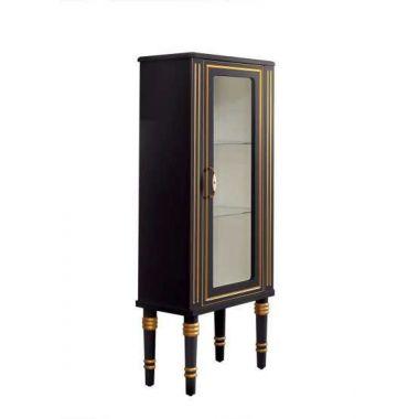Шкаф Рояль П50 Черный с золотой патиной