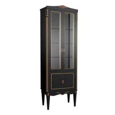 Шкаф Верди П60-01 Черный с золотой патиной