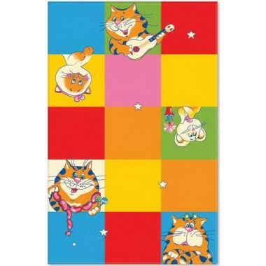 Ковер Aquarelle KIDS 1,37х2,00   Кот в цветных квадратах