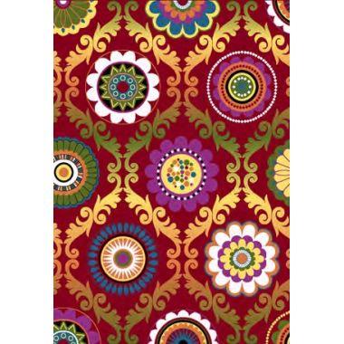Ковёр  KOLIBRI  FRIZE 11003/120  2,0м х 3,0м  Хохлома  цвет  красный