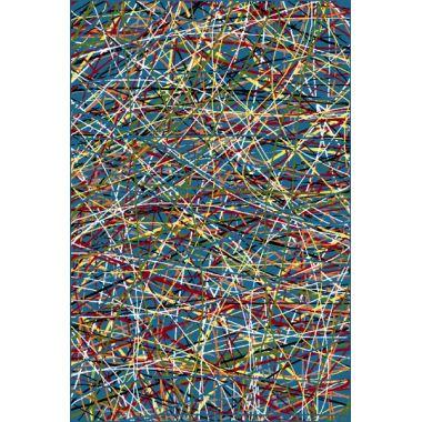 Ковёр KOLIBRI FRIZE 11035/140 2,0м х 3,0м Голубой паутинки