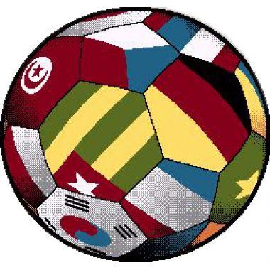 Детский коврик 0,67 х 0,67 Круглый 11110/180 Мяч