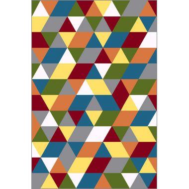 Ковёр KOLIBRI FRIZE 11151/120 1,60 х 2,30 Цветные треугольники
