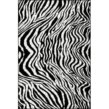 Ковёр KOLIBRI FRIZE 11329/180 1,60 х 2,30 Чёрно-белые волны