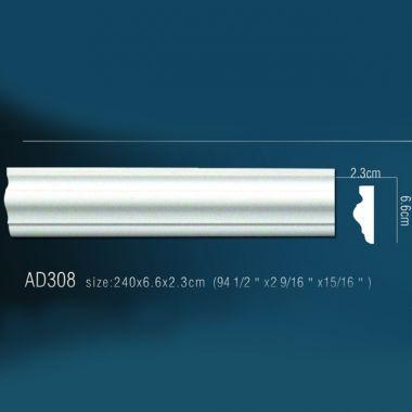Стеновой молдинг AD308 (240 х6,6х2,2см)