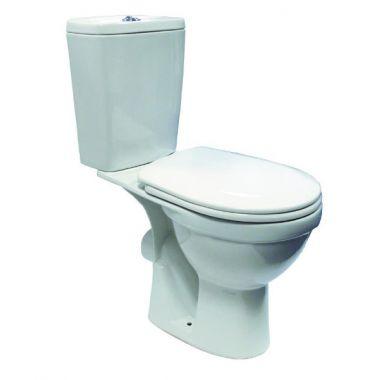 Унитаз РОНДО косой выпуск,в комплекте с сиденьем и армотурой 6л.,нижний подвод (белый)