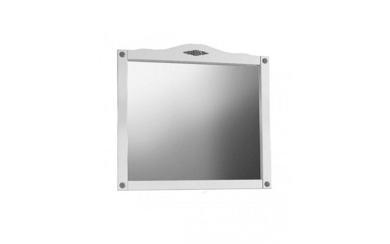 Зеркало Империя В 105 Белая матовый с серебряной патиной (64)