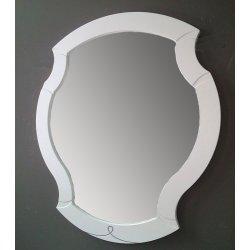 Зеркало Пикассо В91 белое матовое с серебряной патиной