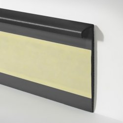 Плинтус для ковролина  Dollken Германия TLE 55 с эластичным верхом цвет чёрный 55 мм х 10 мм х 2,5 м