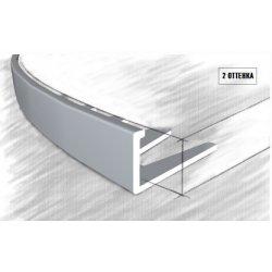 Алюминиевая Г-шина 359-01А 10мм серебро 2,5м